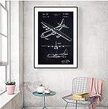 baiyinlongshop Vintage Russische Usa Ww2 Flugzeug Leinwand