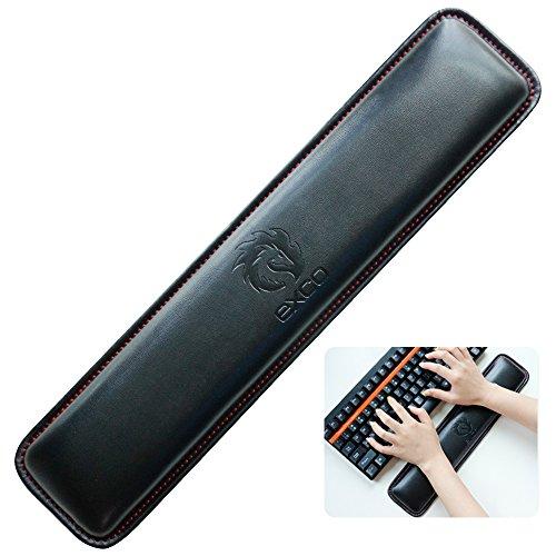 Tastatur Handgelenkauflage pad-exco Handgelenk liegt, Memory Foam rutschfeste Schwarz PU Leder Palm Support Wrist Pad Handgelenk Kissen für Laptops/notebooks/Mac Book//PC/Computer×2.5cm)