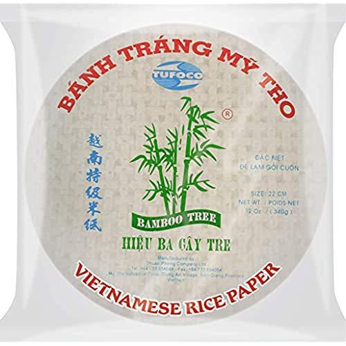 Bamboo Tree Carta di Riso (31cm) da Utilizzare Negli Involtini Primavera e Fácile da Preparare, Qualità Premium, 340G