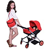 The New York Doll Collection Modern Twin Doll Deluxe Baby Boo Stroller-Tela...