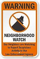 壁芸術装飾警告:近所は、サインを警告します