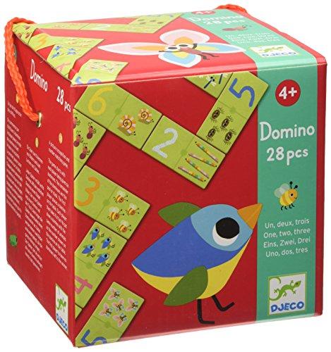 DJECO- Juegos familiaresDominóDJECOEducativos Domino Uno, Dos, Tres, Multicolor (15)