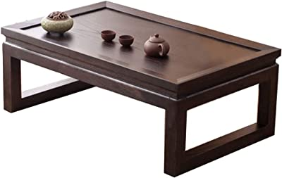 Japanese-Style Tea Table Tatami Coffee Table Solid Wood Coffee Table Windowsill Low Table Laptop Table (Color : C, Size : 70x45x30cm)