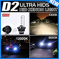 TODYER HIDバルブ D2C D2S 4300K 35W hid ヘッドライト2本左右セット1年保証