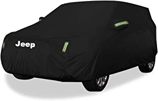 KTYXDE Car Car Cover Indoor and Outdoor Thick Oxford Cloth Anti-fouling Sun Protection Rain Warm Cover for Jeep Cherokee Off-Road Vehicle SUV Models Car Cover (Size : Oxford Cloth - Built-in lint)
