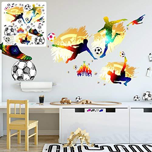 XXL Wandtattoo Set verschiedene Motive| Kinderzimmer Aufkleber bunt Wanddeko Fussball soccer Football