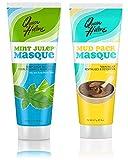 QUEEN HELENE Masque Mint Julep 8 oz & QUEEN HELENE Mud Pack Masque 8 oz (2 Pack Set)