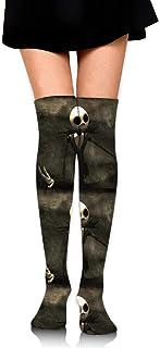 ロングフルレングスソックス The Nightmare Before Christmas ソックス、ロングソックス、ショートスカート、ハイヒール、スニーカーと組み合わせることができます