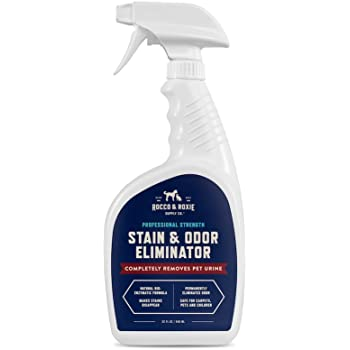 Rocco & Roxie Supply Professional Strength Stain and Odor Eliminator, Enzyme-Powered Pet Odor and Stain Remover for Dogs and Cat Urine, Spot Carpet Cleaner for Small Animal.