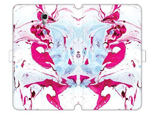 etuo Custodia per Samsung Galaxy Tab A 10.5 – Custodia Wallet Book Fantastic – Rosa marmorizzato