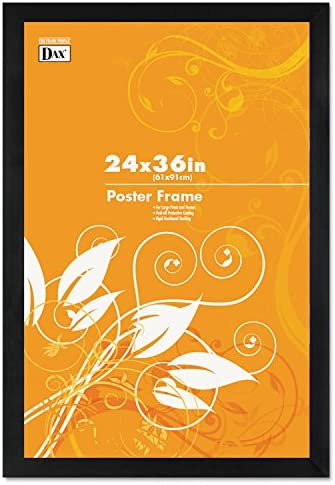 Miami Mall Black Wood Poster Frame w Plastic 24 Wide 36 Window x Quantity limited Profile