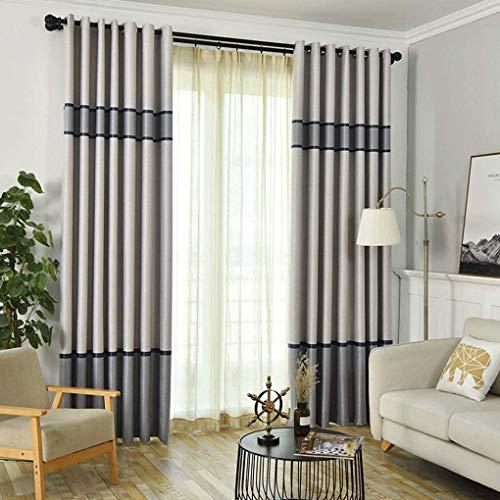 RR & LL gordijnen Nordic Minimalist stijl woonkamer slaapkamer kant-en-klare vloergordijnen verduisterende gordijnen (kleur: C, grootte: breedte 300 hoogte 270 cm (gordijn)) Width 150*height 270cm (curtain) 8