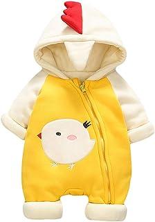 AMIYAN Baby Jungen Mädchen Spielanzug Schlafanzug Küken Overalls Neugeborenes Säugling Strampler Herbst Winter Anzug Outfit 3-12 Monate
