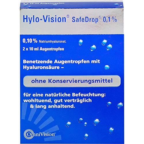 Hylo-Vision SafeDrop 0,1% Lösung Fläschchen, 20 ml Lösung
