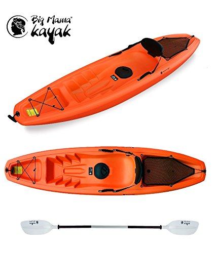 Gil Big Mama Kayak - Canoa Da 266 Cm + 1 Gavone + 1 Pagaia + 1 Seggiolino + 1 Ruotino ( Colore ARANCIO))