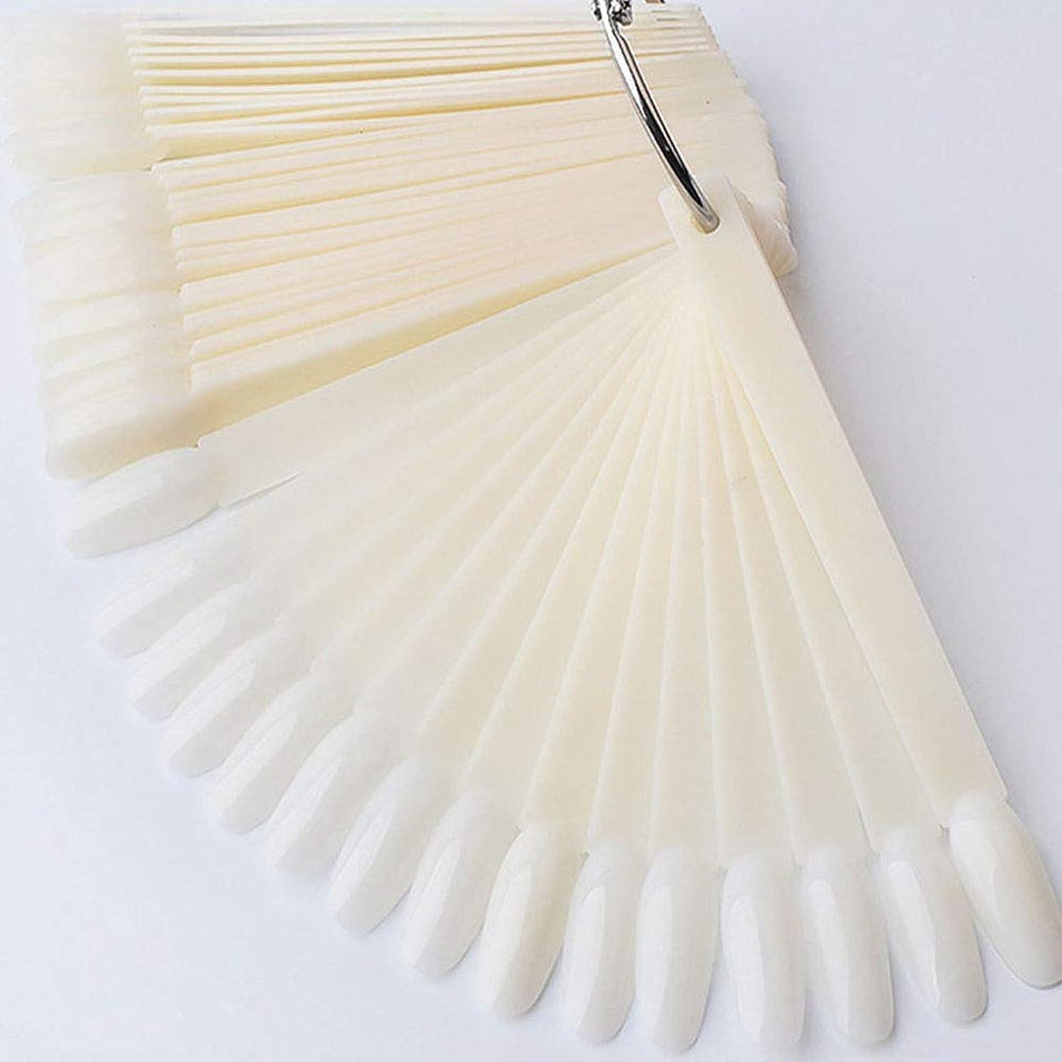 ペニー酸化物地区ネイルチップ スティック ネイル用品 練習用 50枚 (アイボリー)