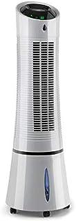 Enfriador de Aire 3 en 1,Climatizador evaporativo, 30W, 210m³/h, Ventilador, Humidificador,3 velocidades,Mando a Distan ciaModos: Normal, Natural y Nocturno,Gris