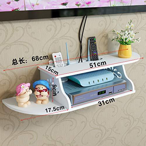 Armadietto TV sospeso da parete, per soggiorno, colore: bianco D Color