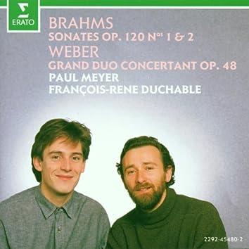 Brahms : Clarinet Sonatas & Weber : Grand duo concertant