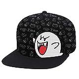Controller Gear Unisex-Adult's Super Mario Boo Patterned Snapback Flat Bill Hat, Black, OSFM