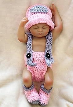 Wamdoll Miniature 10  Truly Real Beautiful Dreamer Newborn Baby Dolls Silicone Full Body Waterproof for Girl