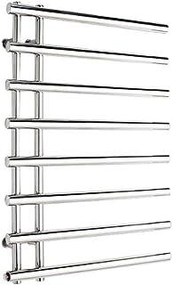 YIDTO 840x610 mm Cromo eléctrico Diseñador Panel Plano Toallero Radiador Baño con calefacción Estilo Simple Baño Calentador Toallero Radiador