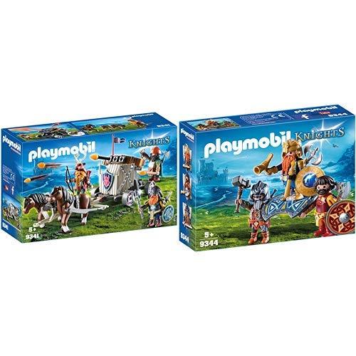 Playmobil 9341 - Ponygespann mit Zwergenballiste Spiel &  9344 - Zwergenkönig Spiel