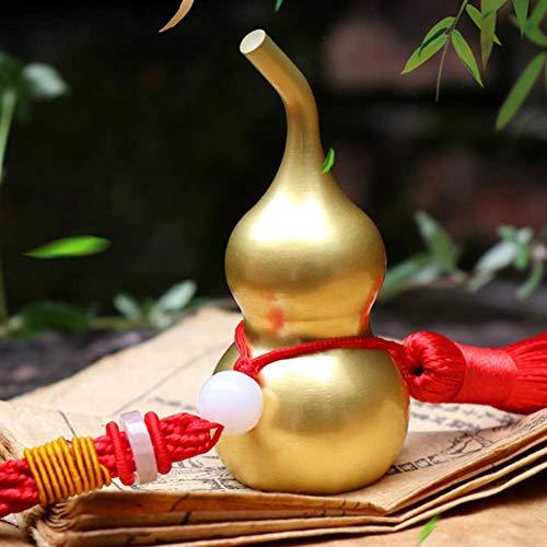 Feng Shui Brass Hulu Wu Lou Gourd Adornos de Cucurbit, China Buena suerte Oficina Dormitorio Coche Colgando Adornos Para Regalos Para Housewarming Decoración Del Hogar, 7.5cm Love of a lifetime