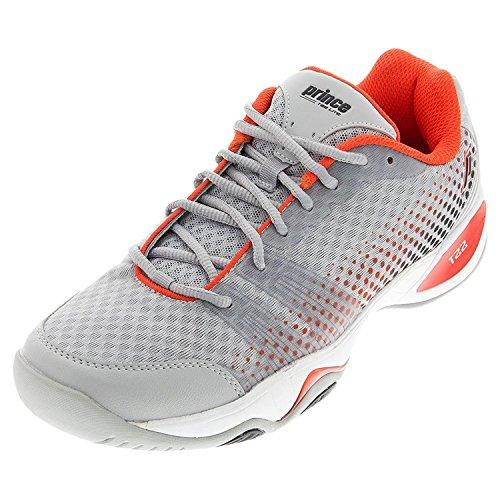 Prince T22Lite para hombre zapatillas de tenis, color - Grey/Black/Red, tamaño 41