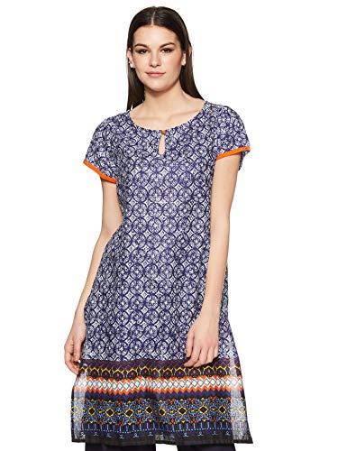 Indigo Women's Straight Kurti(SS18IND -123_Blue_large)