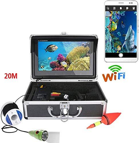 ZGYQGOO 10 Zoll Farbmonitor 20 Mt 1000TVL Unterwasserfischen Videokamera Kit, HD WiFi Wireless Für iOS Android APP Unterstützt Videoaufzeichnung Und Nehmen Sie Foto