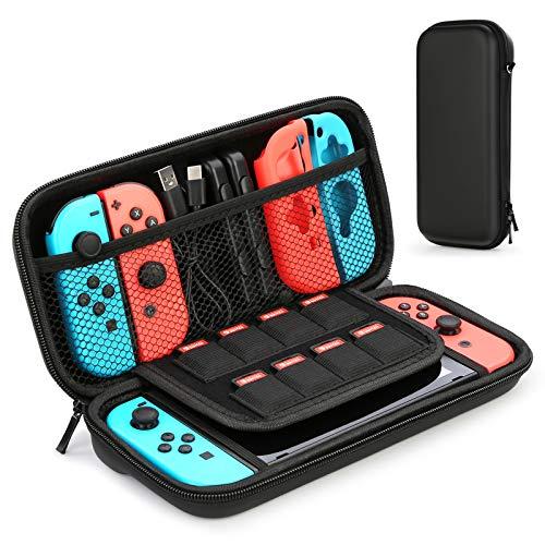 HEYSTOP Custodia per Nintendo Switch Custodia con più Spazio per 8 Cartucce, Custodia Portatile per Nintendo Switch Console & Accessori (Nero)