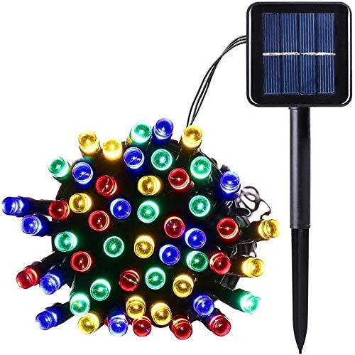 Salcar LED Solar Lichterkette Garten Deko, 100 LEDs Wasserdicht LED Außen lichterkette 12m RGB