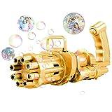 Gatling Bubble Machine 2021 Cooles Seifenblasenpistole Kinder Seifenblasen Pistole 8 Loch Bubble...
