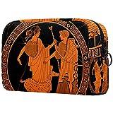 Bolsa para brochas de maquillaje personalizable, bolsa de aseo portátil para mujer, bolso cosmético, organizador de viaje, círculo romano