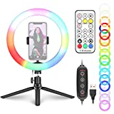Neewer 10-inch RGB Ring Light Selfie Light Ring with Tripod Stand & Phone Holder, Remote Control,...