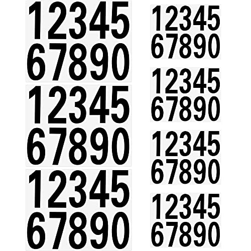 70 Pieces Vinyl Mailbox Number Decal, Black Self Adhesive Address Numbers 0 - 9 Stickers, Waterproof and Fadeless Mailbox Sign for Mailbox, Door, Cars, Bin, Window, Signs (2 Inch and 3 Inch)