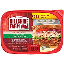 Hillshire Farm Ultra Thin Sliced Lunchmeat, Honey Roasted Turkey Breast & Smoked Ham, 16 Oz