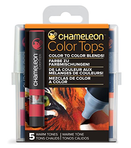 Chameleon Art Products - 5 Color Tops; Farbe zu farbmischungen; Warme Töne