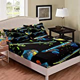 Erosebridal - Juego de sábanas para monopatín (3 unidades, tamaño completo, incluye sábana bajera de estilo hippie)