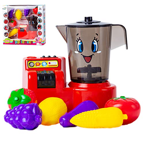 NIMU Smoothie Pretend Play Juice Blender Kitchen Play Set Premium Quality Juicer and Toy Food with Realistic Light and Sound Ideal for Kids Toddlers and Girls Prime