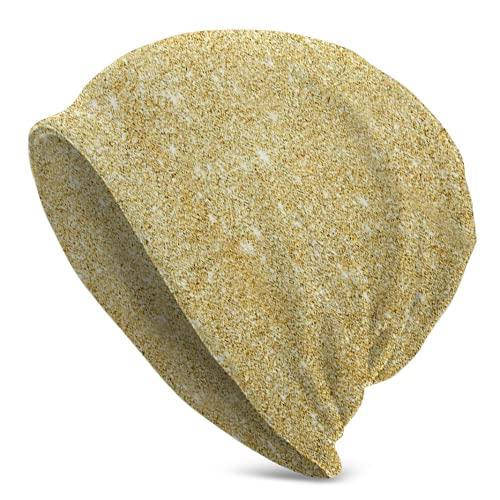 Gorras de calavera doradas con fondo esmerilado para correr gorros de ciclismo para hombres y mujeres