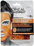 L'Oréal Paris Men Expert Hydra Energetic, Mascarilla de Tejido Energizante para Hombres - paquete de 4