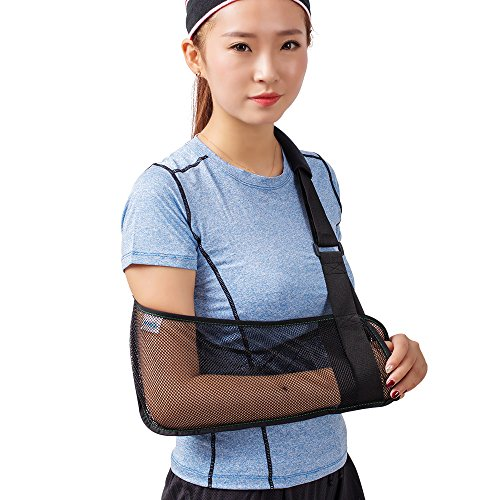TODDOBRA Mesh Arm Shoulder Sling - Medical Shoulder Immobilizer for Shower - Arm Brace for Torn Rotator Cuff Injury - Right Left Support for Men and Women - Arm Shoulder Stabilizer for Elbow, Wrist, Thumb Injuries, Dislocation