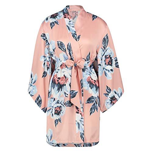 HUNKEMÖLLER Kimono Satin Print Rose XL/XXL