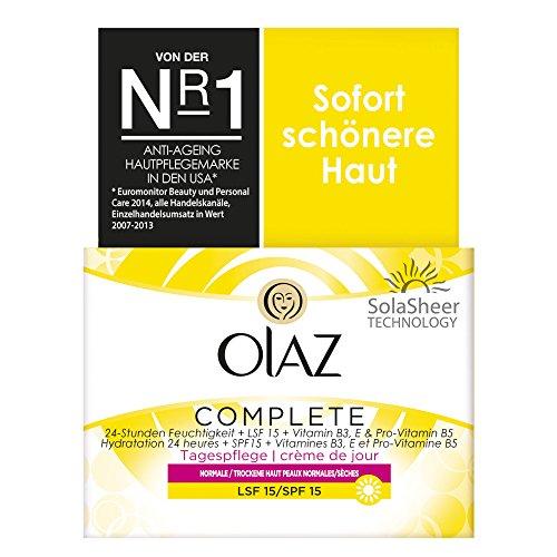 Olaz CompleteTagespflege mit LSF 15 + GRATIS Taschenspiegel, 1er Pack (1 x 50 ml)