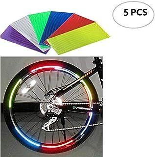 Pegatinas Reflexivas De La Rueda De Bicicleta Set 5 Pcs Pegatinas Reflectantes Del Borde De La