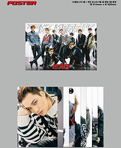 [Moderato Ver.] Don't Mess Up My Tempo 5th Album EXO Vol.5 CD + Cover + Photo Book + Photo Card + Extra 4Photo Cards Set