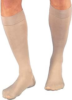 JOBST Relief Knee High 20-30 mmHg Compression Socks, Closed Toe, Beige, Large Full Calf