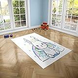 Oedim Alfombra Infantil Conejo para Habitaciones PVC | 95 x 95 cm | Moqueta PVC | Suelo vinílico | Decoración del Hogar | Suelo Sintasol | Suelo de Protección Infantil |